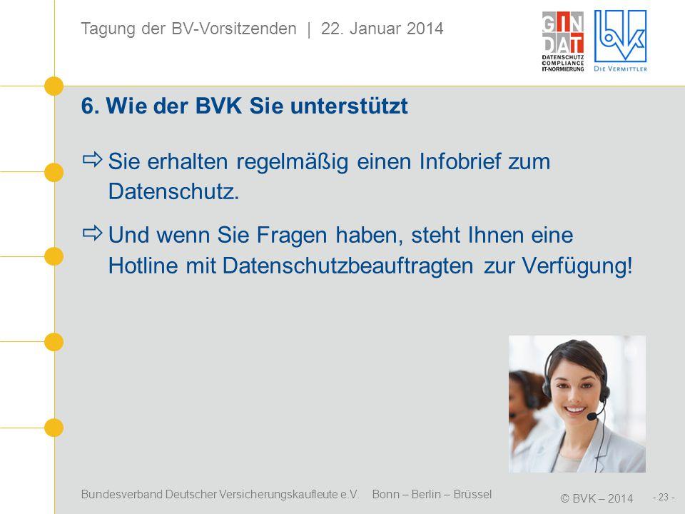 6. Wie der BVK Sie unterstützt