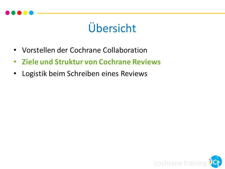 Übersicht Vorstellen der Cochrane Collaboration