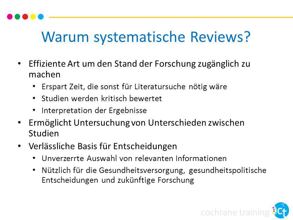 Warum systematische Reviews