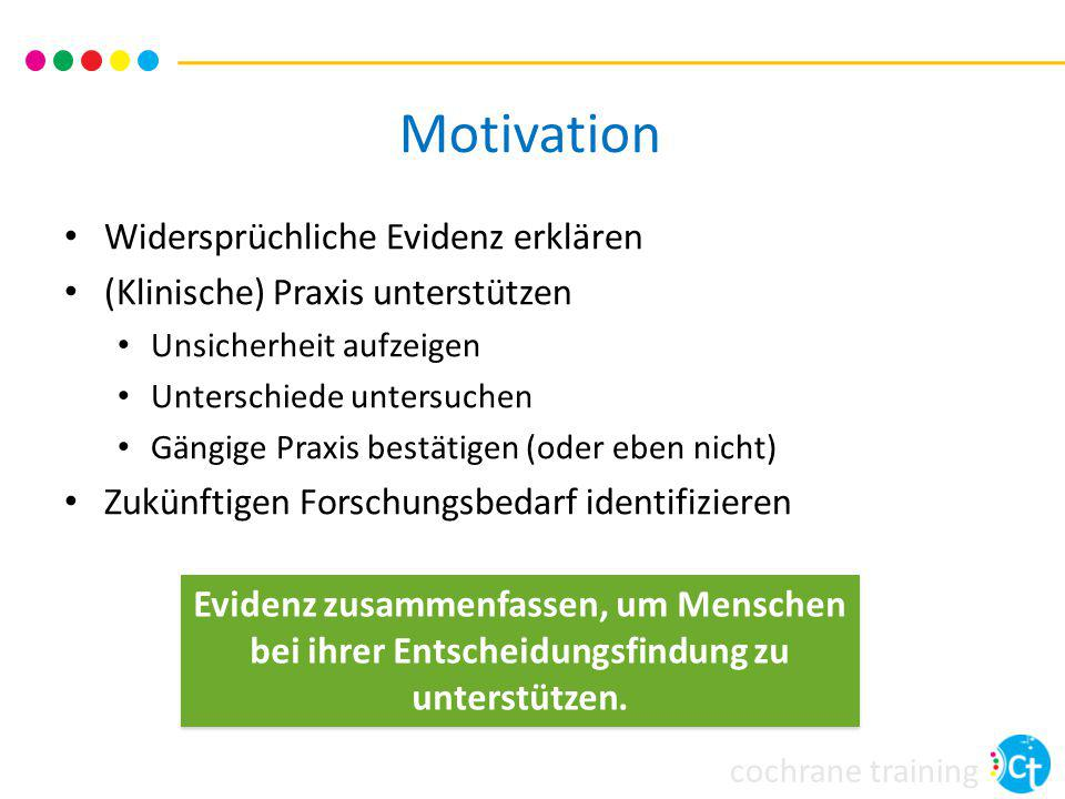 Motivation Widersprüchliche Evidenz erklären