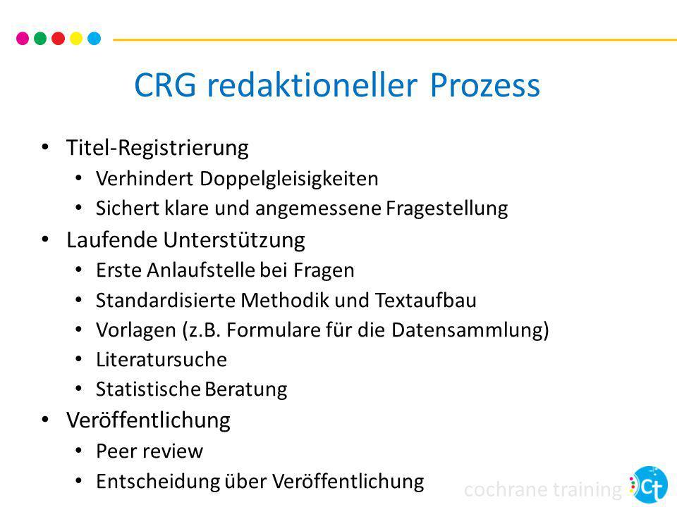CRG redaktioneller Prozess