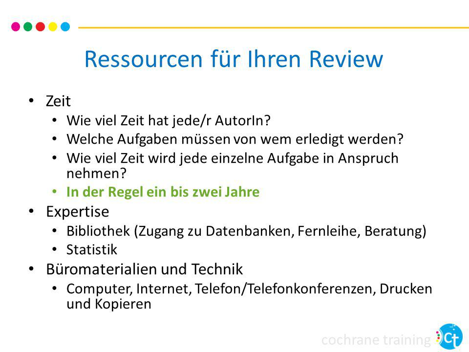 Ressourcen für Ihren Review