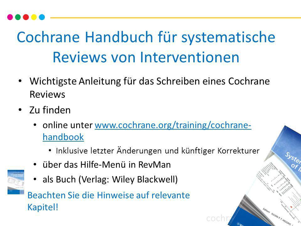 Cochrane Handbuch für systematische Reviews von Interventionen