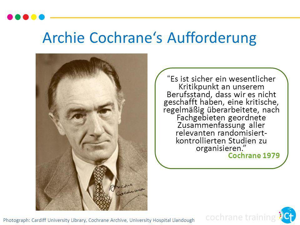 Archie Cochrane's Aufforderung
