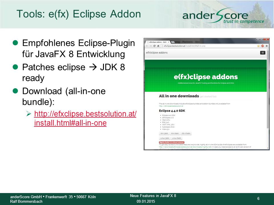 Tools: e(fx) Eclipse Addon