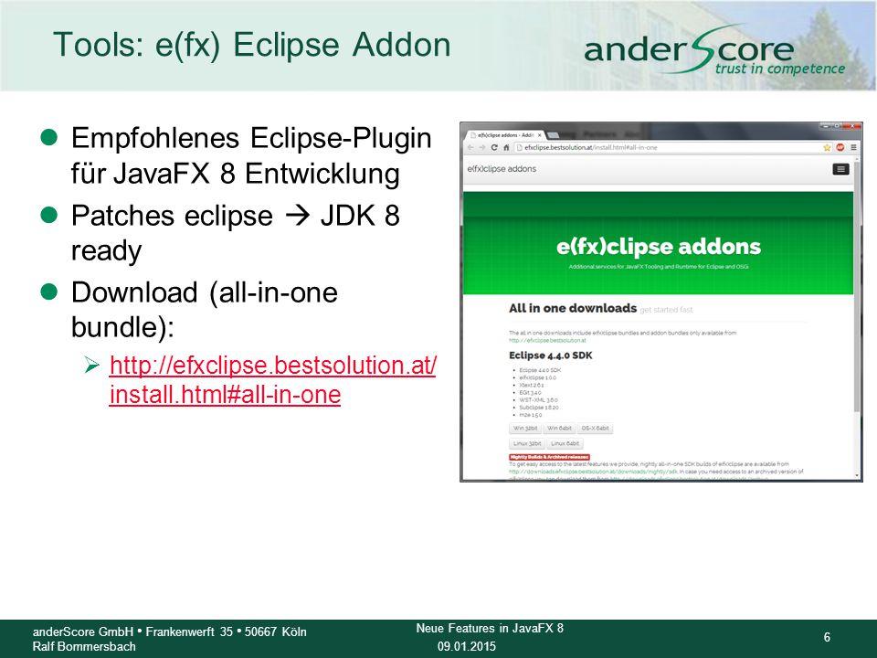 Tools: e(fx) Eclipse Addon