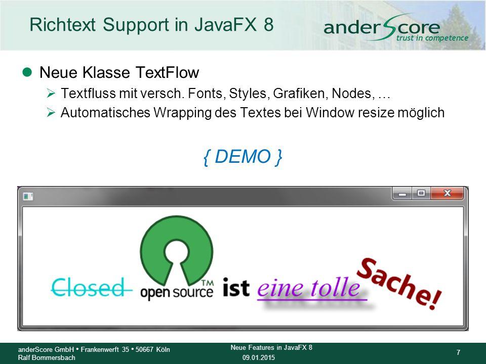Richtext Support in JavaFX 8