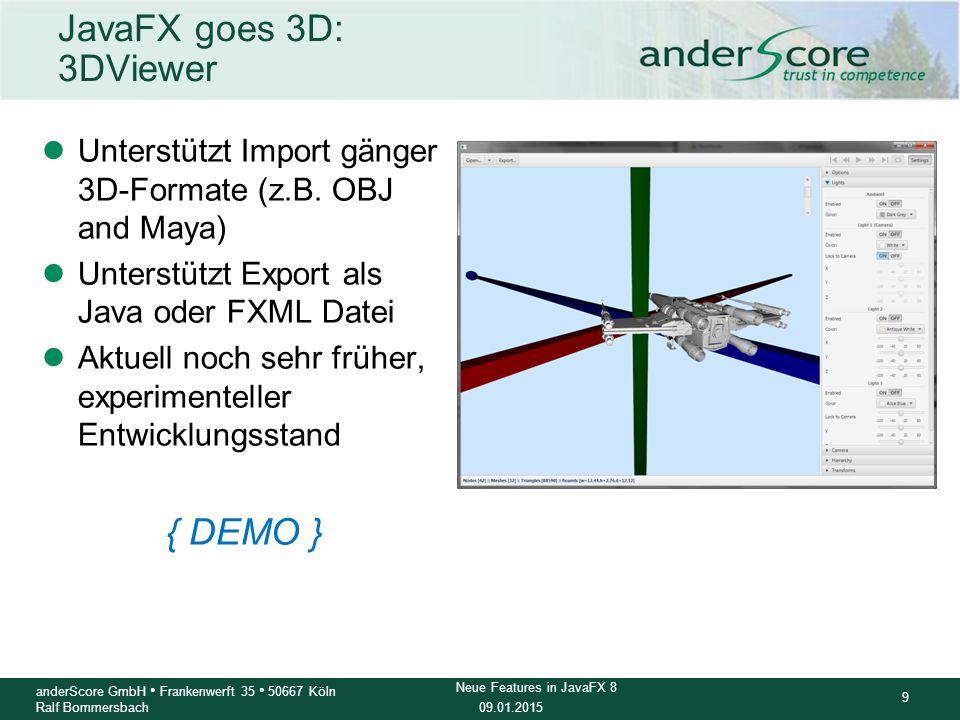 JavaFX goes 3D: 3DViewer { DEMO }