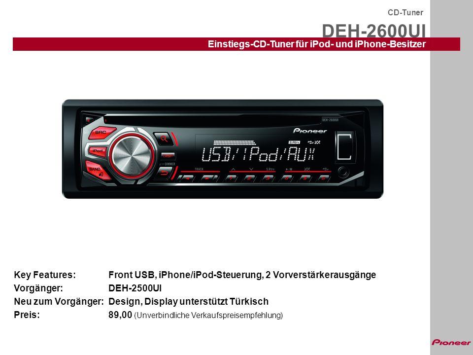 DEH-2600UI Einstiegs-CD-Tuner für iPod- und iPhone-Besitzer