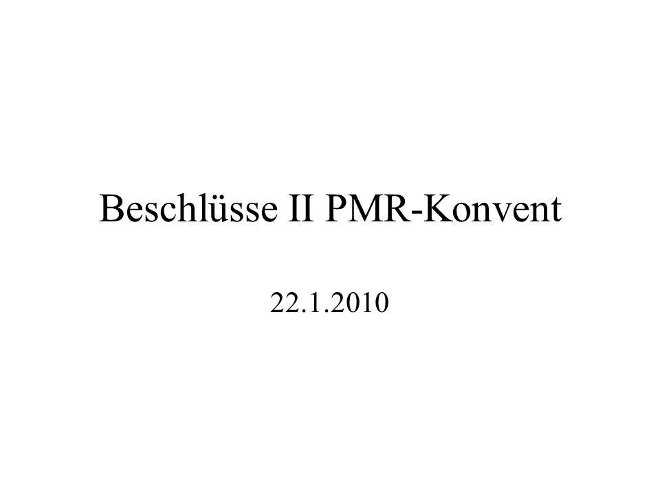 Beschlüsse II PMR-Konvent