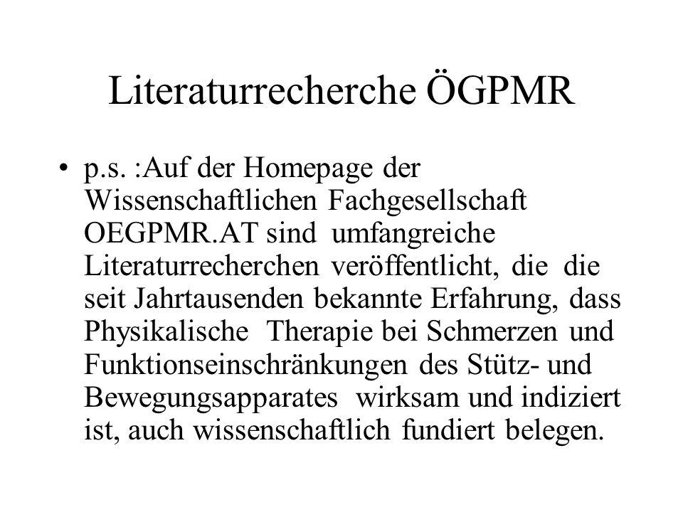 Literaturrecherche ÖGPMR