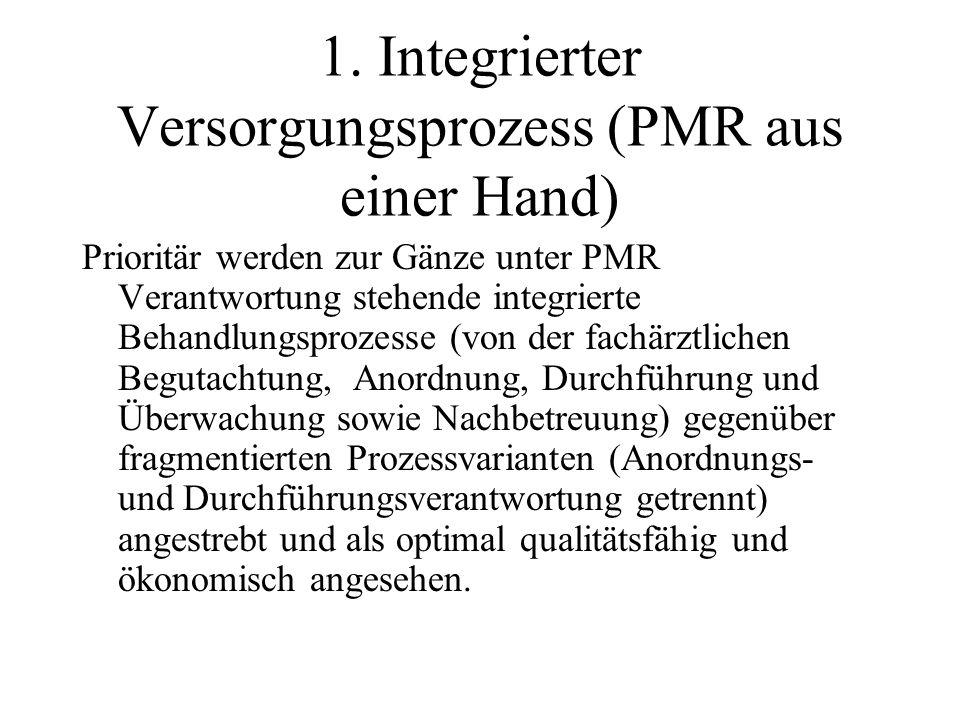 1. Integrierter Versorgungsprozess (PMR aus einer Hand)