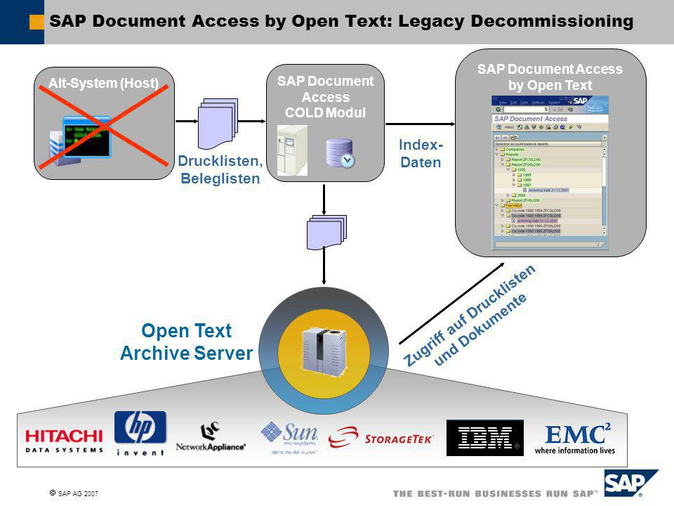 SAP Document Access by Open Text: Legacy Decommissioning