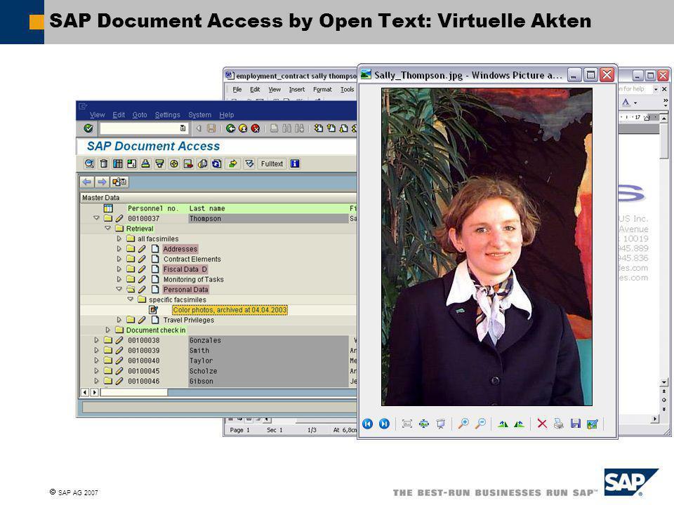 SAP Document Access by Open Text: Virtuelle Akten