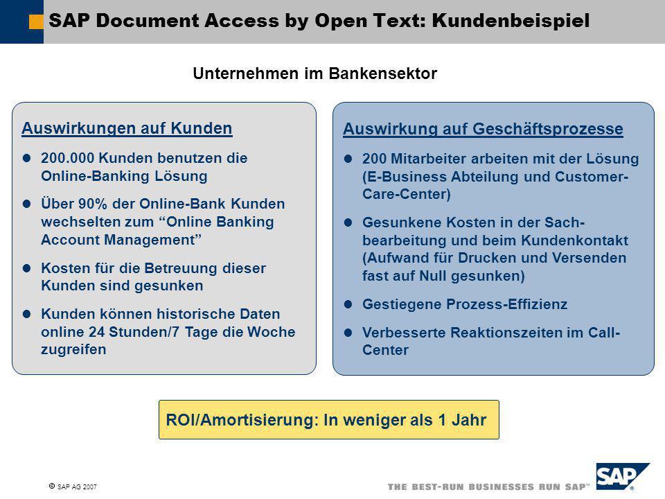 SAP Document Access by Open Text: Kundenbeispiel