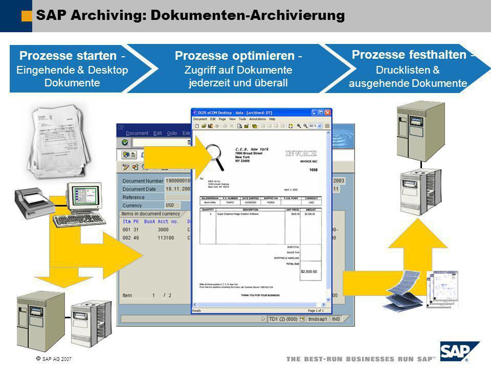 SAP Archiving: Dokumenten-Archivierung