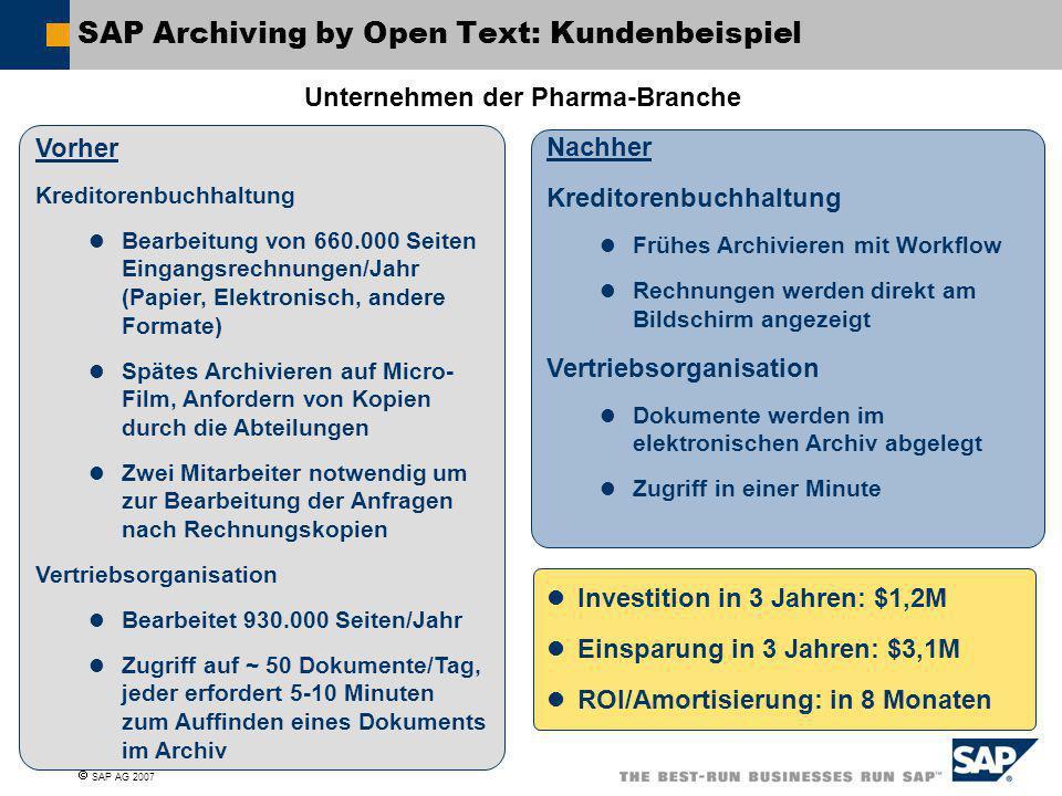 SAP Archiving by Open Text: Kundenbeispiel