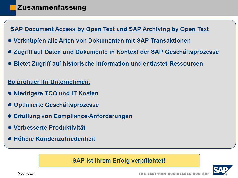 SAP ist Ihrem Erfolg verpflichtet!