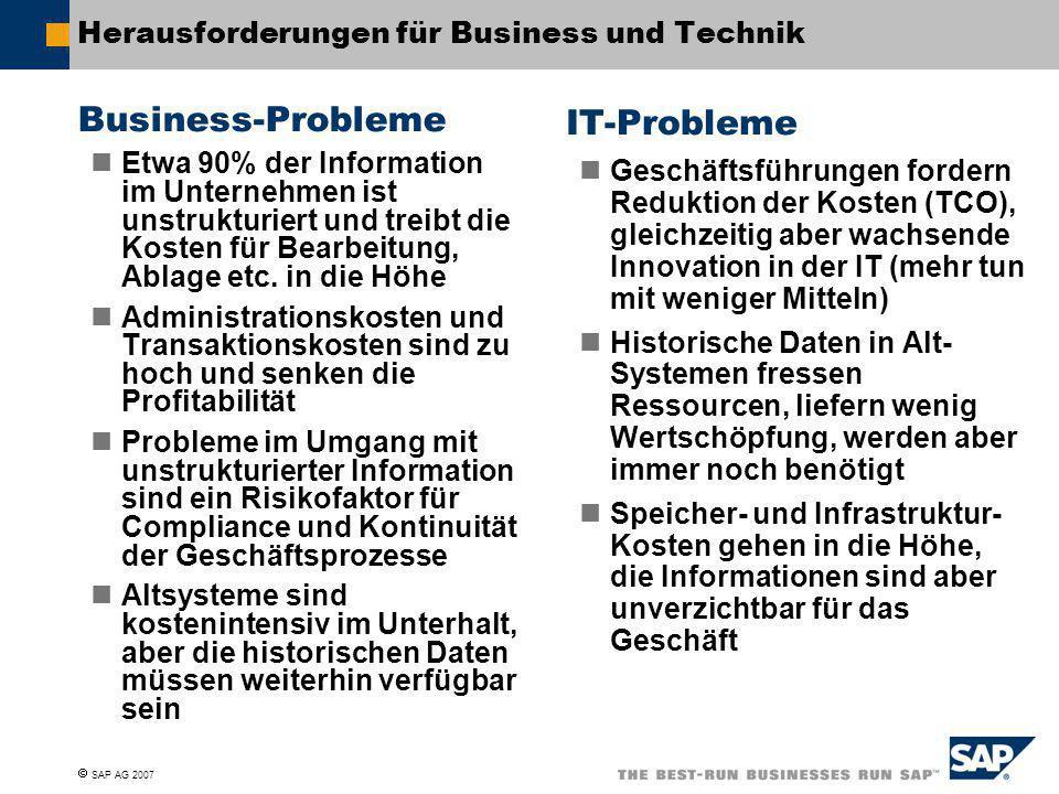 Herausforderungen für Business und Technik