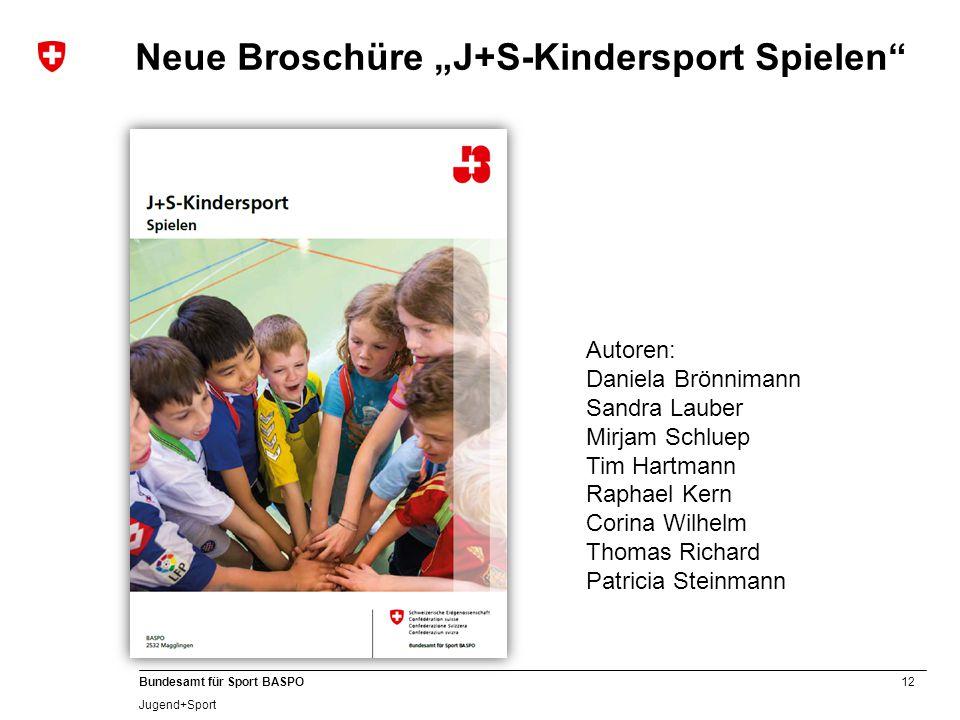 """Neue Broschüre """"J+S-Kindersport Spielen"""