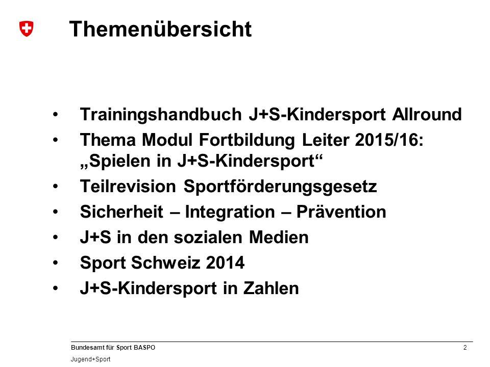 Themenübersicht Trainingshandbuch J+S-Kindersport Allround