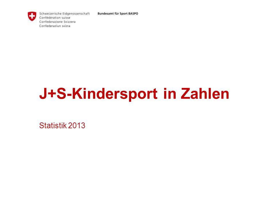 J+S-Kindersport in Zahlen Statistik 2013