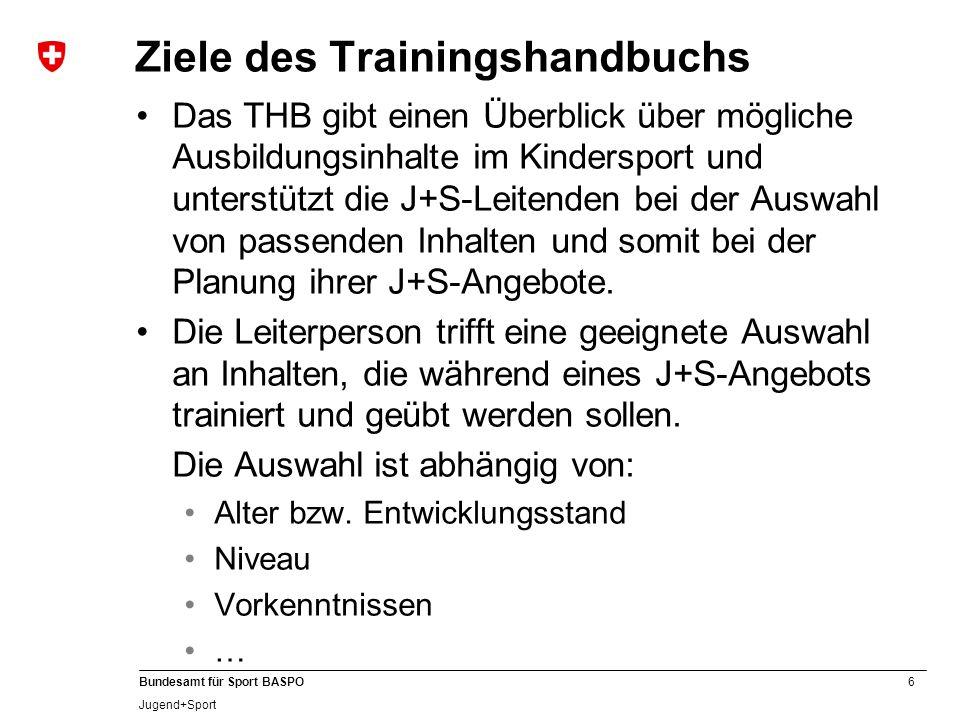 Ziele des Trainingshandbuchs