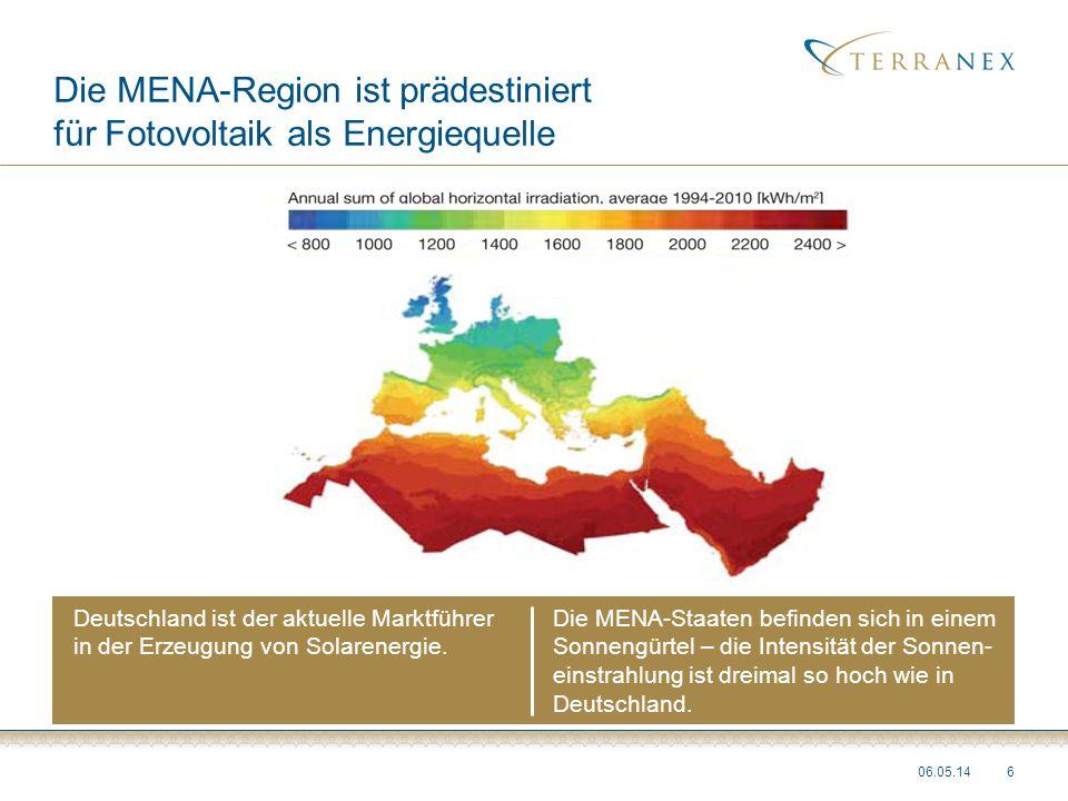 Die MENA-Region ist prädestiniert für Fotovoltaik als Energiequelle