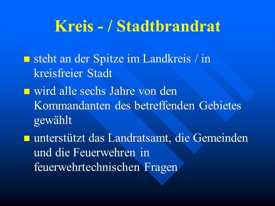 Kreis - / Stadtbrandrat