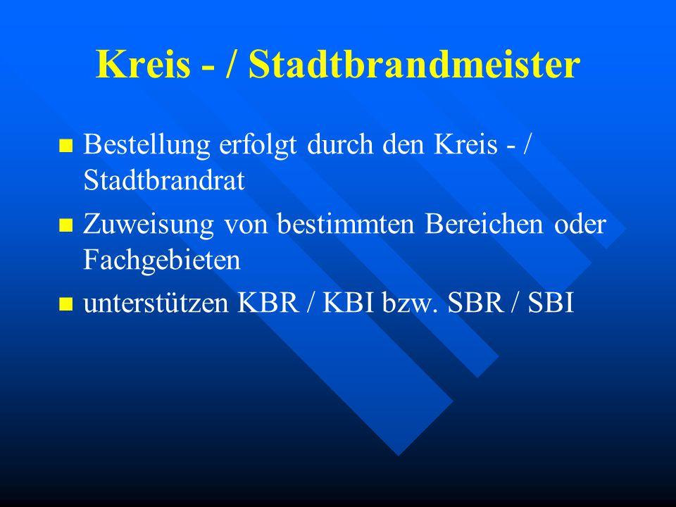 Kreis - / Stadtbrandmeister