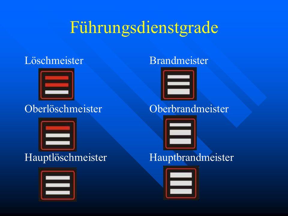 Führungsdienstgrade Löschmeister Oberlöschmeister Hauptlöschmeister