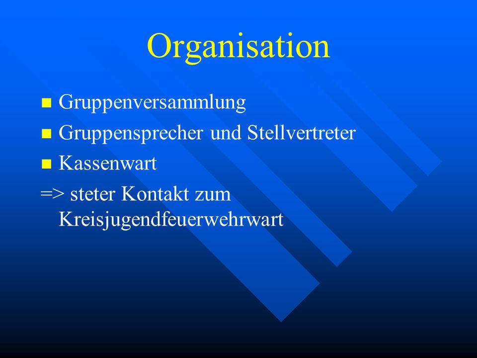 Organisation Gruppenversammlung Gruppensprecher und Stellvertreter