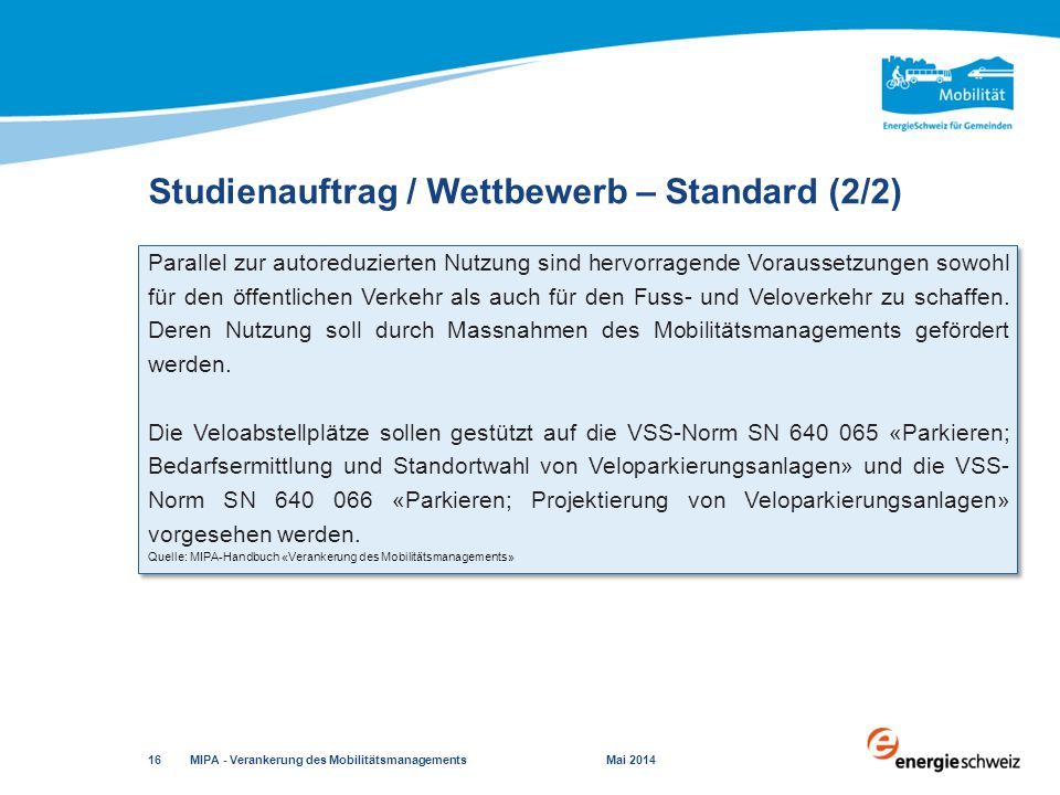 Studienauftrag / Wettbewerb – Standard (2/2)