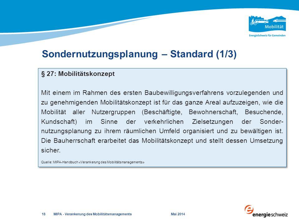 Sondernutzungsplanung – Standard (1/3)