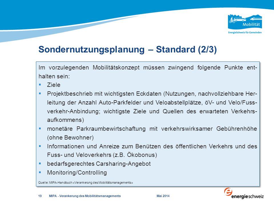 Sondernutzungsplanung – Standard (2/3)