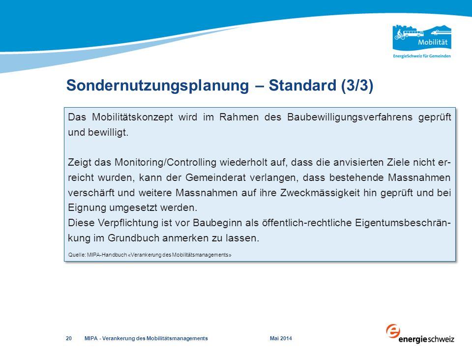 Sondernutzungsplanung – Standard (3/3)