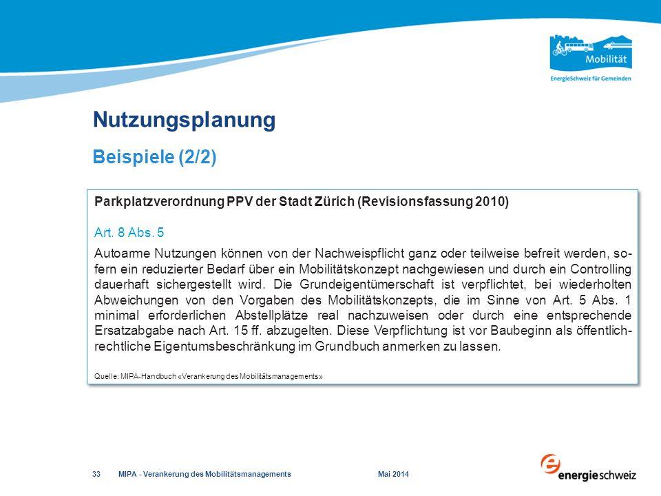 Quelle: MIPA-Handbuch «Verankerung des Mobilitätsmanagements»
