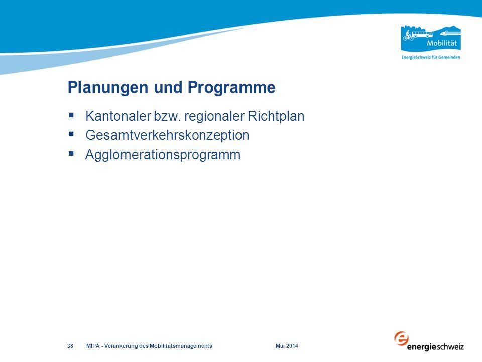 Planungen und Programme