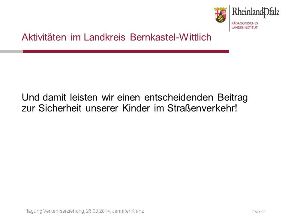 Aktivitäten im Landkreis Bernkastel-Wittlich