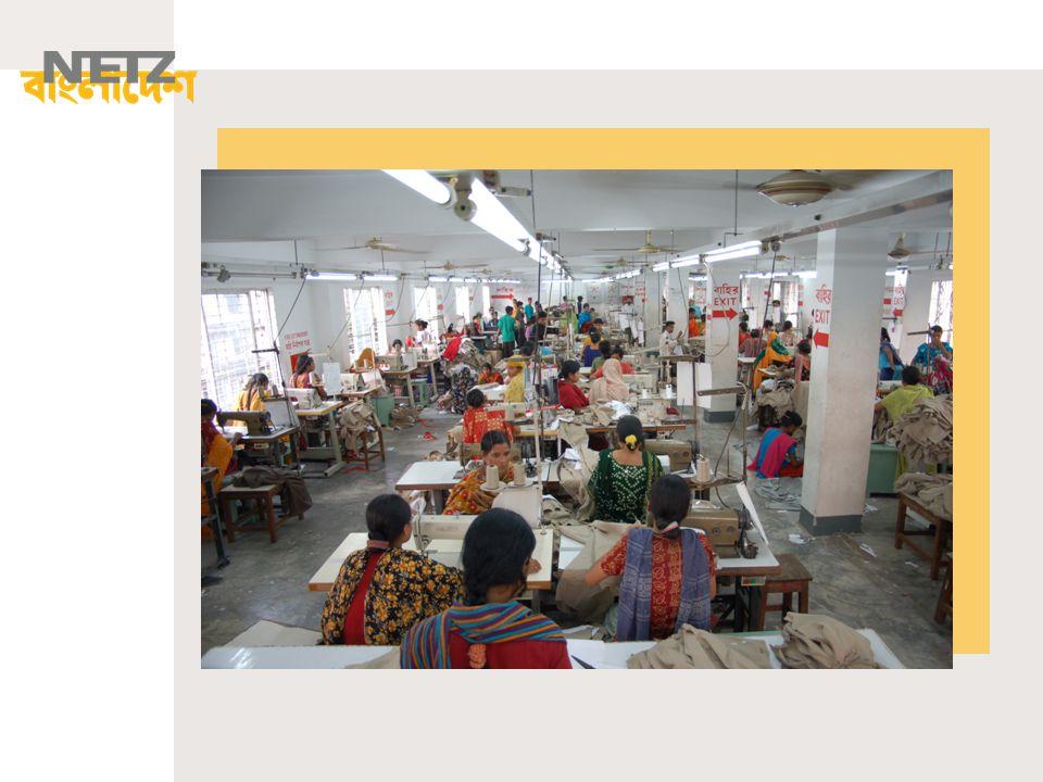 Die meisten Fabriken befinden sich in der Hauptstadt Dhaka oder den Ausläufern der Stadt.