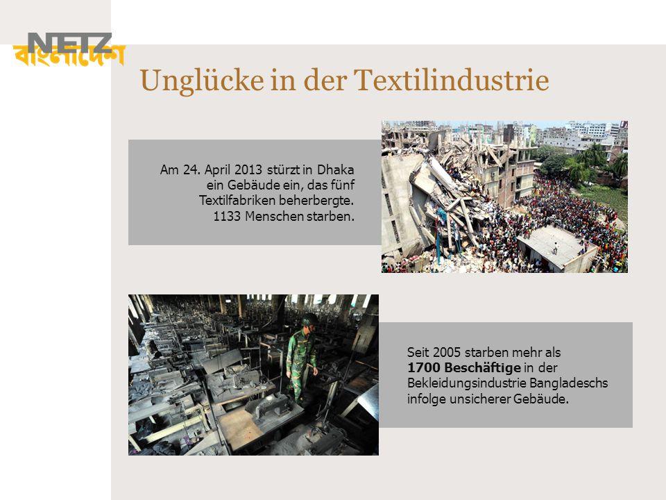 Unglücke in der Textilindustrie