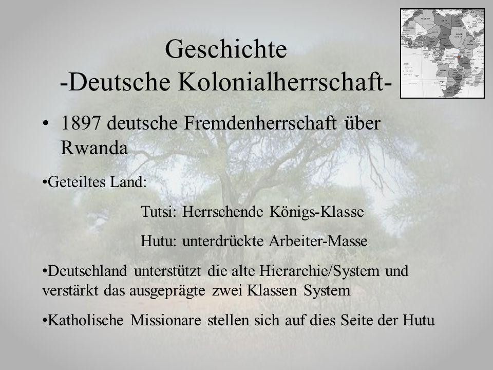 Geschichte -Deutsche Kolonialherrschaft-