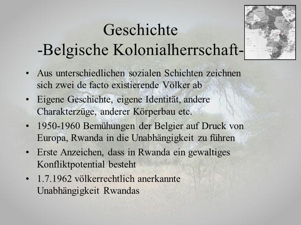 Geschichte -Belgische Kolonialherrschaft-