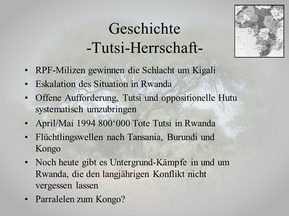 Geschichte -Tutsi-Herrschaft-