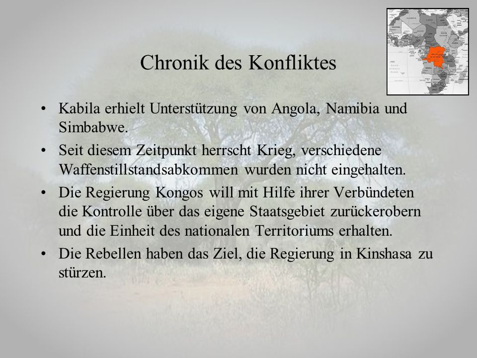 Chronik des Konfliktes