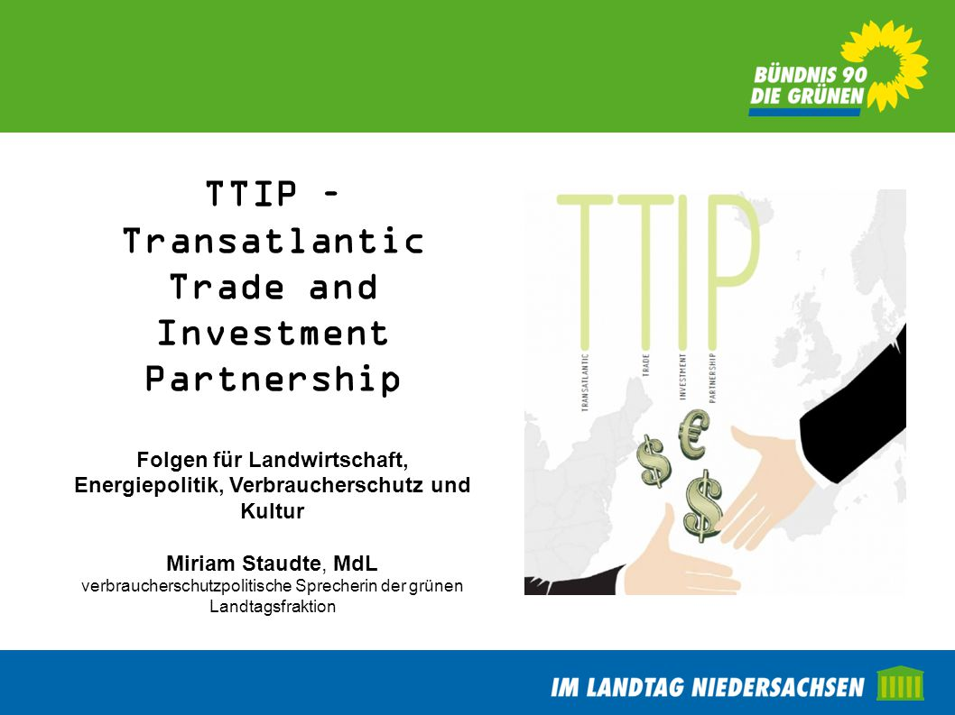 TTIP – Transatlantic Trade and Investment Partnership