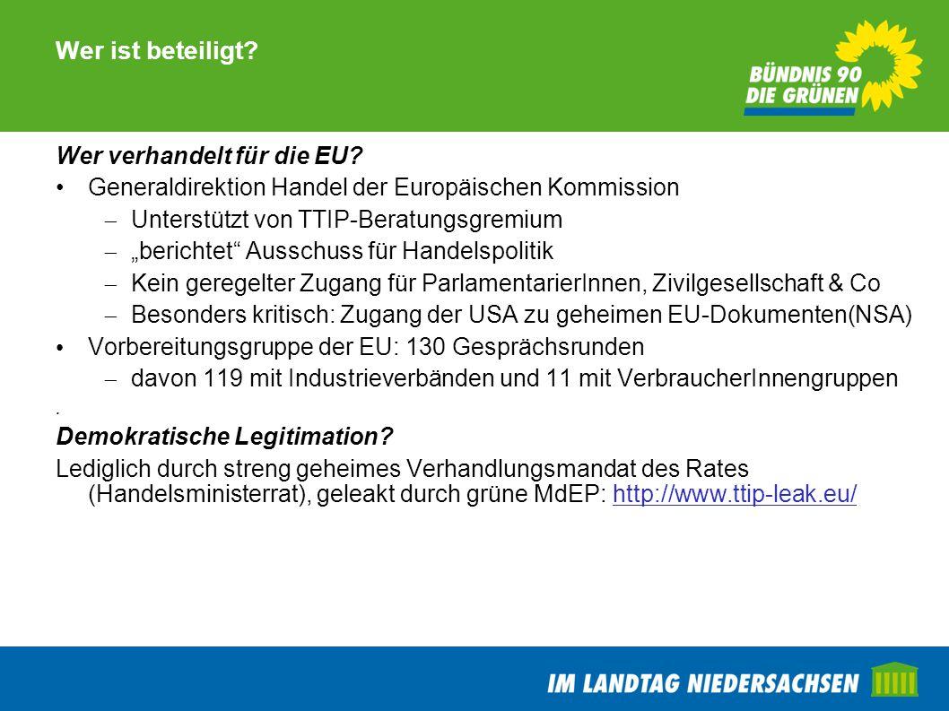 Wer ist beteiligt Wer verhandelt für die EU