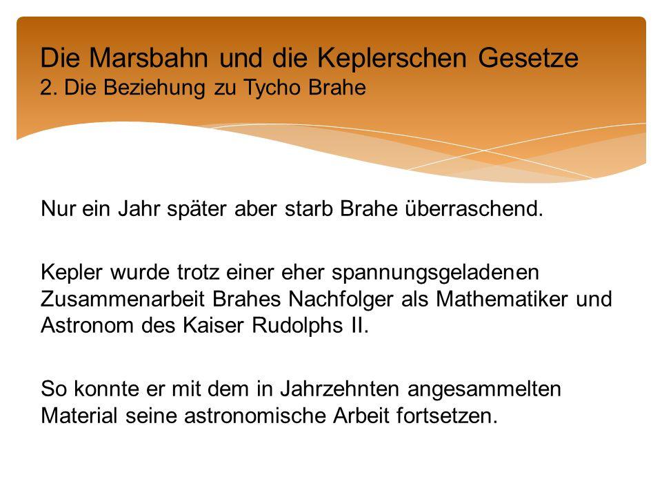 Die Marsbahn und die Keplerschen Gesetze 2