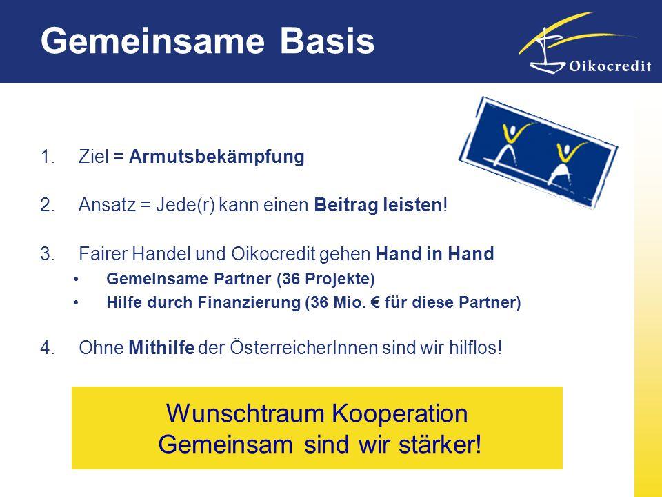 Wunschtraum Kooperation Gemeinsam sind wir stärker!