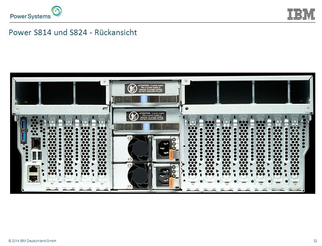 Power S814 und S824 - Rückansicht